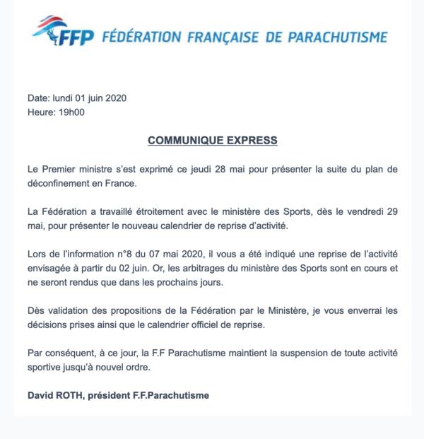 communiqué FFP